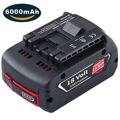 6.0Ah Lithium-Ionen-Akku Werkzeug Batterie BAT620 BAT621 BAT622 BAT609 BAT618 DDB181-02 mit Led (Neue Version) Dosctt (Neue Jahre Versorgt)
