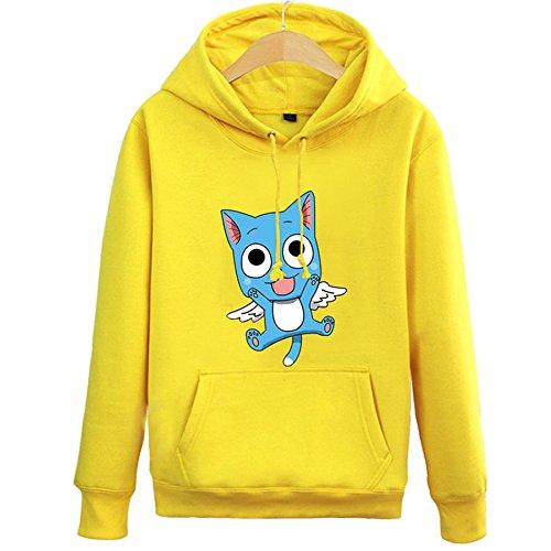 Preisvergleich Produktbild Fuman Fairy tail Anime Hoodie Pullover mit Kapuze Kapuzenpullover Gelb Kostüm XXL