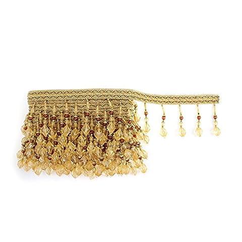 Sourcingmap® Draperie Rideau DIY 6.5m de long Perles Franges Bordure
