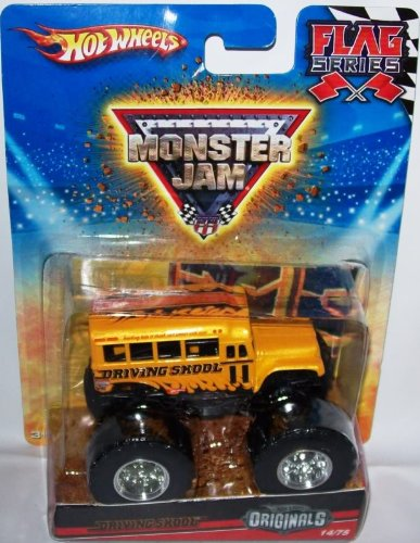 Hot Wheels Originals 2010 1:64 Scale Monster Jam Flag Series DRIVING SKOOL Bus Truck 14/75 by Mattel