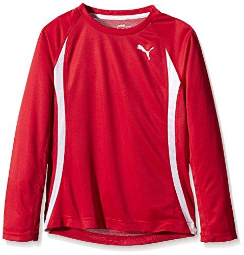 PUMA Jungen Shirt TB Running Long Sleeve Tee Langarmshirt, Red, 152