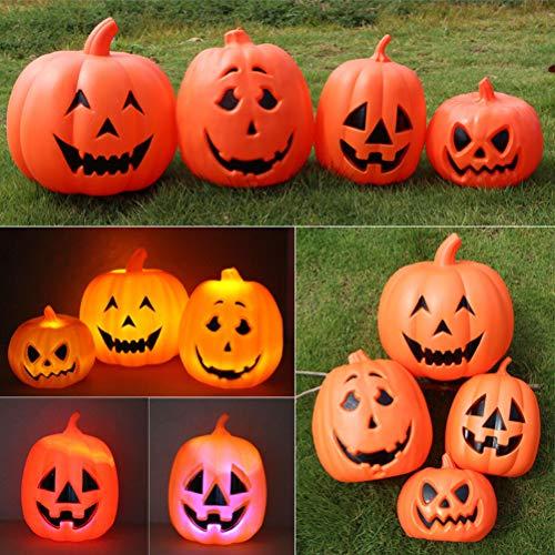 LEDMOMO Halloween Kürbis Lichter Led Tischlampe für Kinder Im Freien leuchten Kürbisse Halloween Requisiten Party Favor Supplies