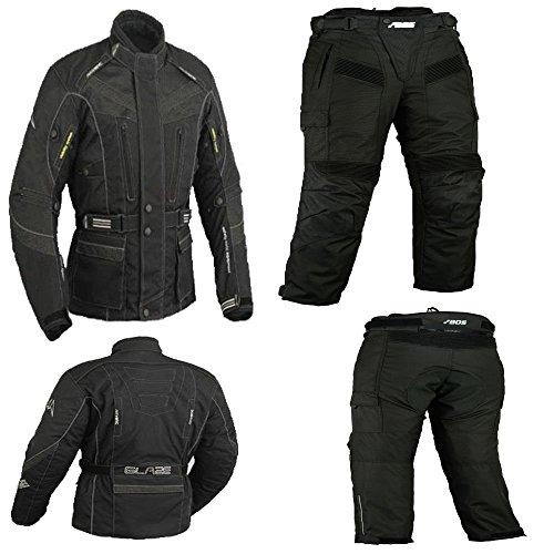Motorradkombi Biker Motorrad Textil Kombi wasserdichte Jacke und Hose gr, 52