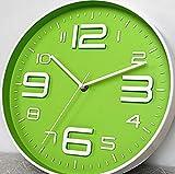 Modern/Zeitgenössisch Landhaus Stil Büro/Geschäftlich Nautisch Urlaub Hochzeit Wanduhr,Kreisförmig Neuheit Metall Kunststoff Drinnen Uhr, Light Green