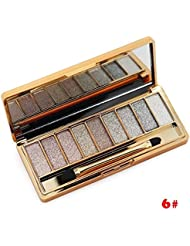 ShineMore 9 Colors Diamond Bright Colorful Eye Shadow Eyeshadow Super Flash Glitter Eyeshadow (#6)