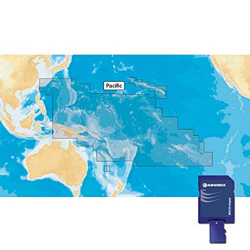Navionics Plus 34XG Pacific Islands Marine & Lake Charts on SD/MSD Küsten-charts