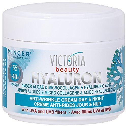 Victoria Beauty – Augencreme gegen Falten und Augenringe – Anti-Aging Gesichtscreme mit hochwertigen Amber Algae, Mikrokollagen und Hyaluronsäure (1 x 50 ml) – Tages- und Nachtcreme gegen Schwellungen – Feuchtigkeitscreme für Frauen und Männer ab 40