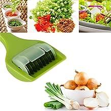 Multifunzionale della cucina di verdure Dicer Cutter Con 9 Sharp in acciaio inossidabile Rullo lama per tritare erbe Cipolla Scalogno Aglio ( Colore : Verde )