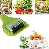Multifunción Cocina Vegetal Dicer Cortador con 9Sharp cuchilla de rodillo de acero inoxidable para cortar hierbas cebolla ajo cebolla de primavera
