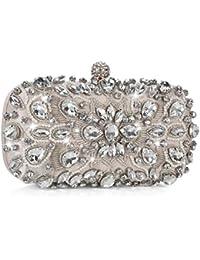 Bolso de Noche de Lujo Bolso de Hombro Mujer Glitter Diamond Hard Shell Clutches Embrague para Boda/Fiesta / Baile, Bolsos de Diamantes de imitación Hechos a Mano