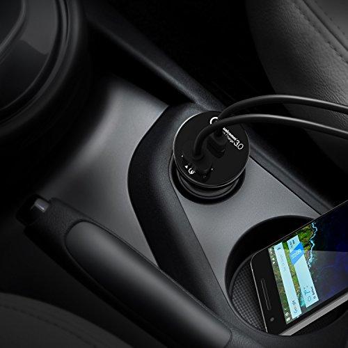 AUKEY USB C Caricabatteria da Auto Quick Charge 3.0 con Due Porte 33W Alimentatore da Auto per Samsung Galaxy S8 / S8+, LG G5 / G6, Nexus 5X / 6P, Google Pixel, iPhone X / 8 Plus / 8 / 7 ecc.