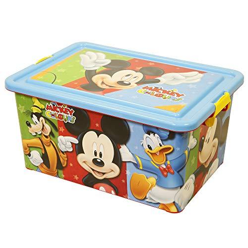 Mickey Mouse 04486 Boîte de Rangement avec Couvercle et Jupe Pare-Neige 23 l