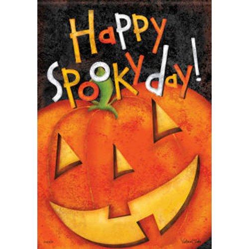 Happy Unheimliche Tag Halloween Haus, Flagge-71,1x 101,6cm-2-seitige Nachricht (Halloween Happy Unheimlich)