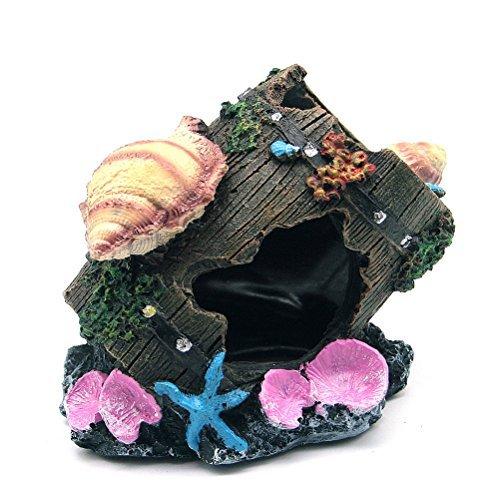 Five Season Sea Starfish Shell Broken Barrels Design Vivid Ornaments for House Aquarium Black by Five Season