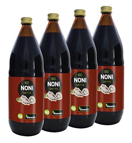 Bio Noni Saft von den Fiji Islands Noni 100% Saft 4 x 1000 ml