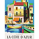 Nathan Visit Cote D'azur Railway Travel Advert Large Print