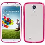 kwmobile Crystal Case Hülle für Samsung Galaxy S4 aus TPU Silikon mit Rahmen - transparente Schutzhülle Cover Bumper in Pink