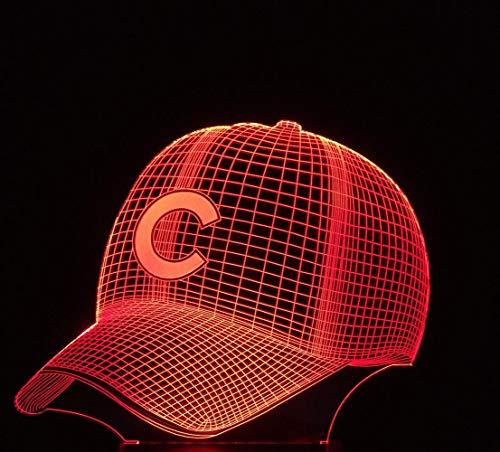 XXPF Baseball Cap C Bunte Nachtlichter 3D Lichter Augenlichter LED Kleine Tischlampen