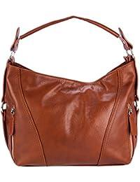 OLIVIA - Sac à main femme / Tendance cuir Italien, bandouliere en cuir - 36 x 26 x 10 cm