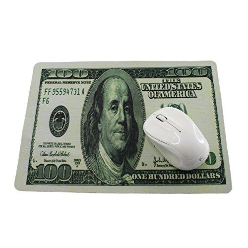 Preisvergleich Produktbild Mousepad 100 Dollar , Mausmatte mit 28x20 cm mit 100 Dollar Note Motiv