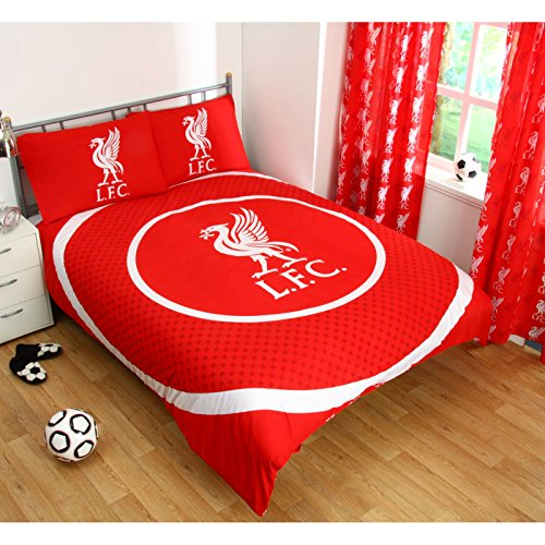 Liverpool Official Reversible Double Duvet Cover Set - Red/White
