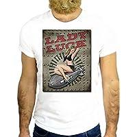 T SHIRT JODE Z2237 LADY LUCK PIN UP BOMB WORLD WAR COOL ROCK AMERICA BOMB GGG24