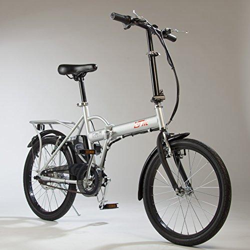 Bicicletta Elettrica IFM Grigia Pieghevole Batteria Litio