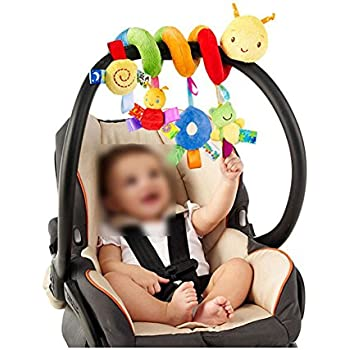 NiceButy Ladybug Bed Hanging Crib Toy Cute Plush Spiral Activity Multifunctional Baby Stroller Soft Toy Hanging Rattle Gift