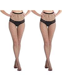 Abollria Calze a Rete Collant Elastica Donna Leggings Sexy Stockings per Party Feste Musicali Halloween Carnevale Mascherata Cosplay