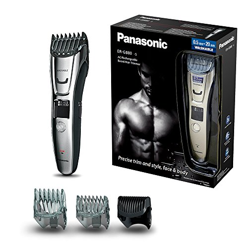 Panasonic ER GB80 Beard Hair And Body Trimmer Wet And Dry 40 X Lengths Three Attachments