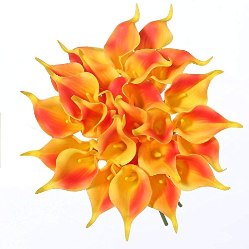 RAILONCH 20 Stücke Calla Kunstblume Deko Künstliche Blumen Kunstpflanze Blumenstrauß für Hochzeit Sträuße Home Hotel Gartendekoration