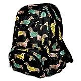 Re-Uz Essential Casual School UnisexTravel Adults Girls Boys Backpack Rucksack Daypack - Sausage Dog