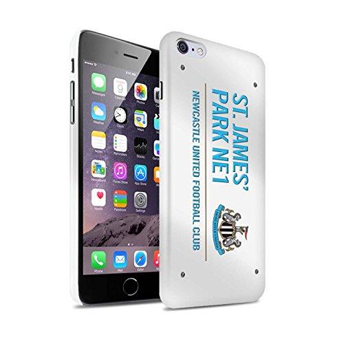 Offiziell Newcastle United FC Hülle / Glanz Snap-On Case für Apple iPhone 6S+/Plus / Pack 6pcs Muster / St James Park Zeichen Kollektion Weiß/Blau