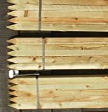 10 x 1.8m (6ft) tall square garden tree stakes - HC4 pressure treated