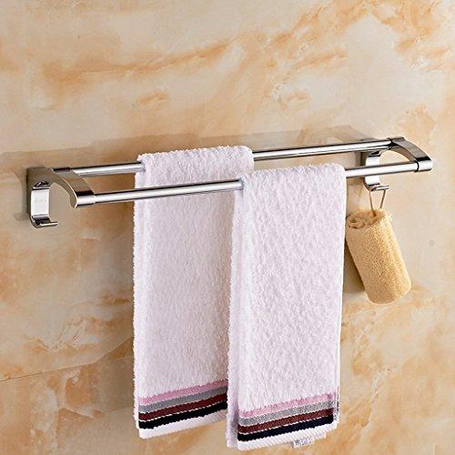 MOMO Badezimmer Handtuchhalter 304 Edelstahl Handtuchregal Handtuchhalter Hotel Rail Regal, mit Doppel-Rods,60cm Badezimmer Handtuch Rack Stehen