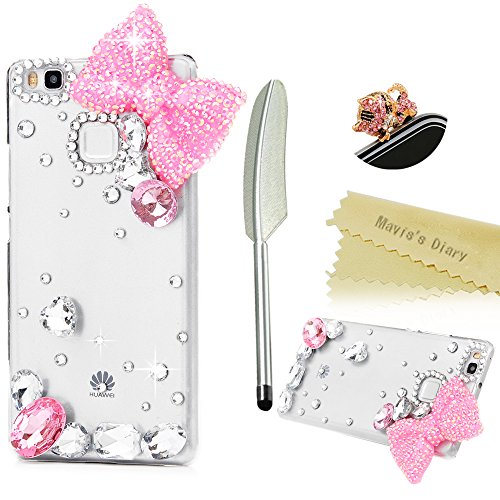 maviss-diary-huawei-p9-lite-case-3d-handmade-bling-crystal-lovely-pink-bow-with-water-drop-gems-shin