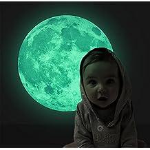 Extsud - Adhesivo fluorescente para pared, diseño de ninfa y estrellas/luna/gatos, decoración para dormitorio, salón o habitación infantil para pared que brilla en la oscuridad, Fluorescentes Adhesivo