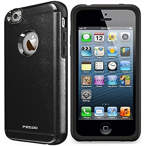 iPhone 4 Funda,iPhone 4S Funda,Pegoo A Prueba de golpes, Anti-Arañazos y Polvo, Mezcla Doble Capa Armadura Proteccion Caso Funda Cáscara Caja para iPhone 4 4S
