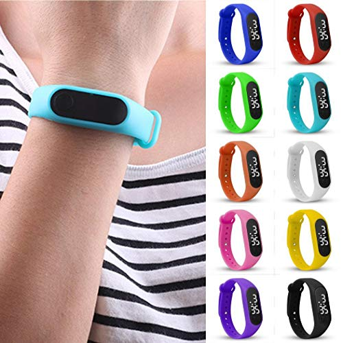 Burlady Distancia a pie Correr Contador de calorías Digital LCD Sporting Smart Reloj de Pulsera