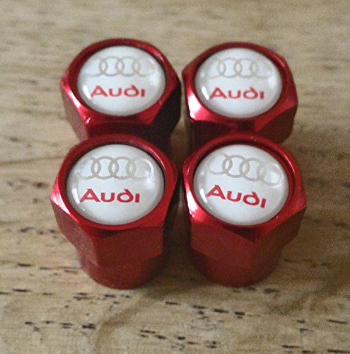 Speed Demons AUDI S blanc ligne rouge roue capuchons de vanne EXCLUSIVE aux États-Unis de la poussière tous les modèles RS TT A1 A2 A3 A4 A5 A6 S1 S2 S3 S4 S5 S6 Q7 A8 (3) Capuchon de valve
