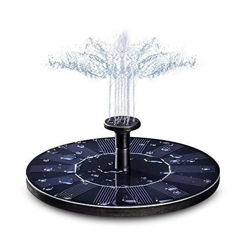 Fuente Solar, KKmoon 7V/1.5W Bomba de agua solar para estanque/piscina/decoración de jardín