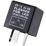 Attention: Cette Flasher LED n'est pas compatible avec toutes les moto. S'il vous plaît assurez-vous que la configuration 3-pin est le même que votre véhicule avant de l'insérer à commander. Ces 3broches de relais pour clignotant est la solution i...