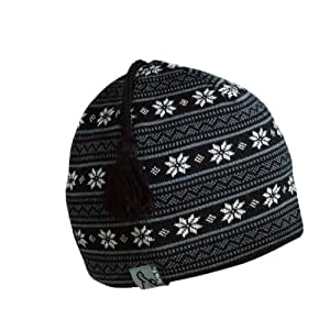 Merino Wool Knit Hat Rafer Black