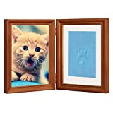 Coffee Personalized Dog or Cat Pet Memorial Frame Paw Prints Desk Photo Frame Modern Wall Hanging Double Picture Frames with Clay Imprint Kit Perfect Pets Keepsake - 5' x 7' or 4' x 6'