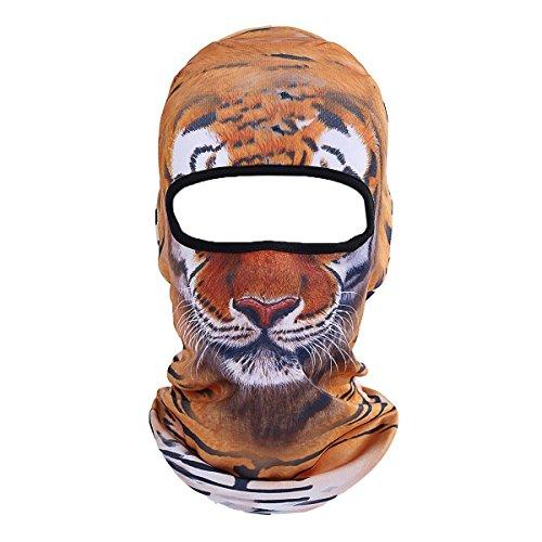 Kostüm Schneemobil - ECYC Warm Gesichtsmaske Winddichte Balaclava Kapuze für Motorrad Ski Winter Schneemobil Outdoor Forschung Kaltes Wetter [Tiger]