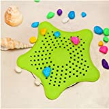 #7: Getko Kitchen Sink Filter Bathroom Hair Catcher Bath Stopper Kitchen Waste Stopper Strainer Filter Silicone Star Design
