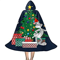 NUJIFGYTCRD B-ugs Bu-NNY Around The Christmas Tree Unisex Kinder Kapuzenumhang Umhang Umhang Cape Halloween Weihnachten Party Dekoration Rolle Cosplay Kostüme