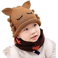 Kentop Lindo Gorros de Punto Sombrero de Tejer para Niñas y Niños bebé 6-36 Meses