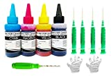 White Sky Canon Printer Refill Ink Kit 300ml with Thumb Drill for PG 740, CL 741, PG745, CL746, PG 47, CL 57, PG 88, CL 98, PG 810, CL 811, PG 830, CL 831, PG 89, CL 99, PG 40, CL 41 with 4 Syringes