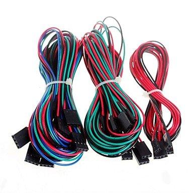 Motor-verdrahtung (14 Stück Komplette Verdrahtung Dupont Kabel Set für 3D Drucker Reprap RAMPS 1.4 Endstops Thermistoren Motor)